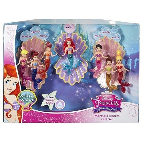 Disney Princess Favorite Moments Mermaid Doll 7-Pack - The Little Mermaid Sisters