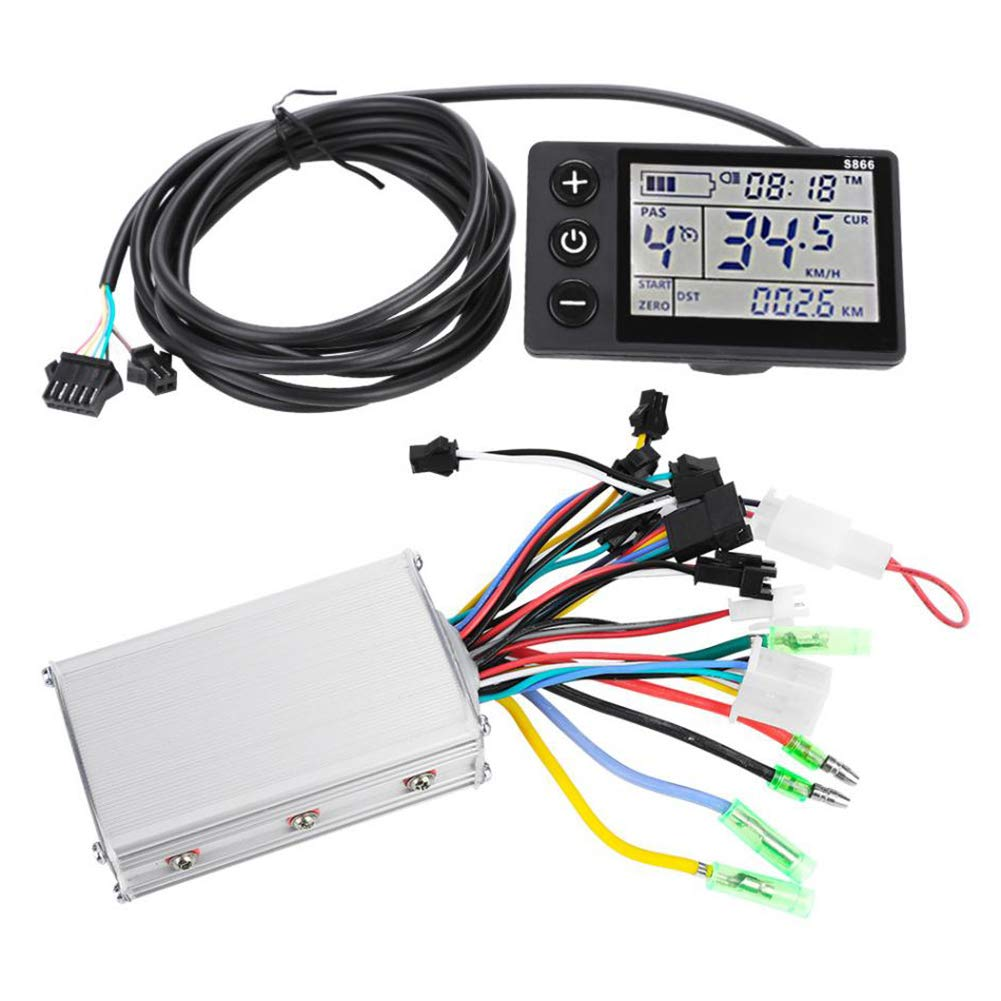 Shentesel Electric Bike Controller Bicycle Scooter Brushless with LCD Panel - 48V