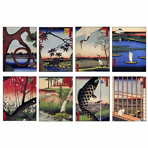 (Small Greeting Cards by Artdash ~ Vintage Japanese Woodblock (ADC016))