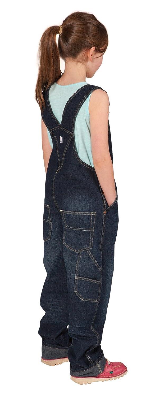 Uskees Mädchen Latzhose (Darkwashed) Alter 10-14 Kinder Latzhosen Jeans Latzhose USK.KD04.G