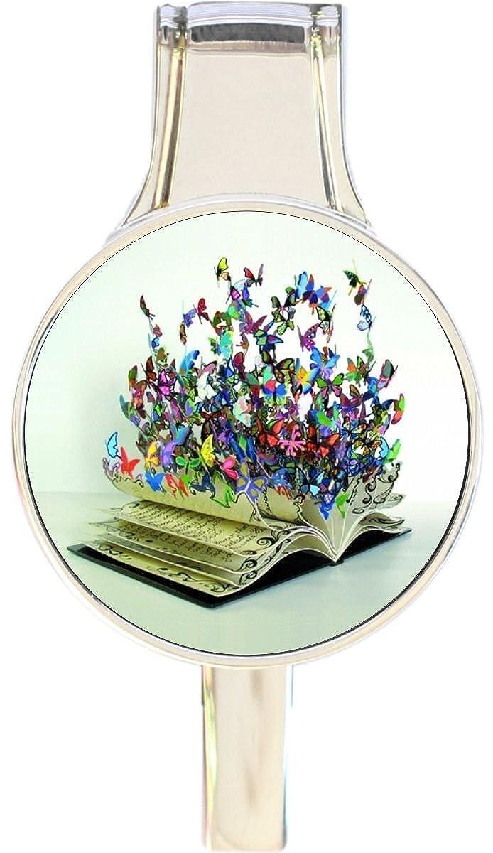Book and Butterflies Everything Purse Hanger Handbag Hook Retractable Folding