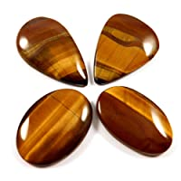 Gems & Jewelshub 90.10pietra preziosa naturale africano occhio di tigre mix sciolto cabochon 4pz lotto all' ingrosso