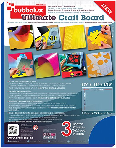 "Floortex 8 1/2"" x 11"" 2mm Blue Bubbalux Ultimate Craft Foam Board (3 pack) by Floortex"