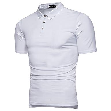 YCUEUST Polos Manga Corta Hombre Camisetas Simple Casual Tops ...