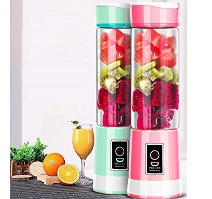 XIAOQING Exprimidor de Carga - The New Electric Mini Juice Cup Multifunción con 6 Cuchillas Juice
