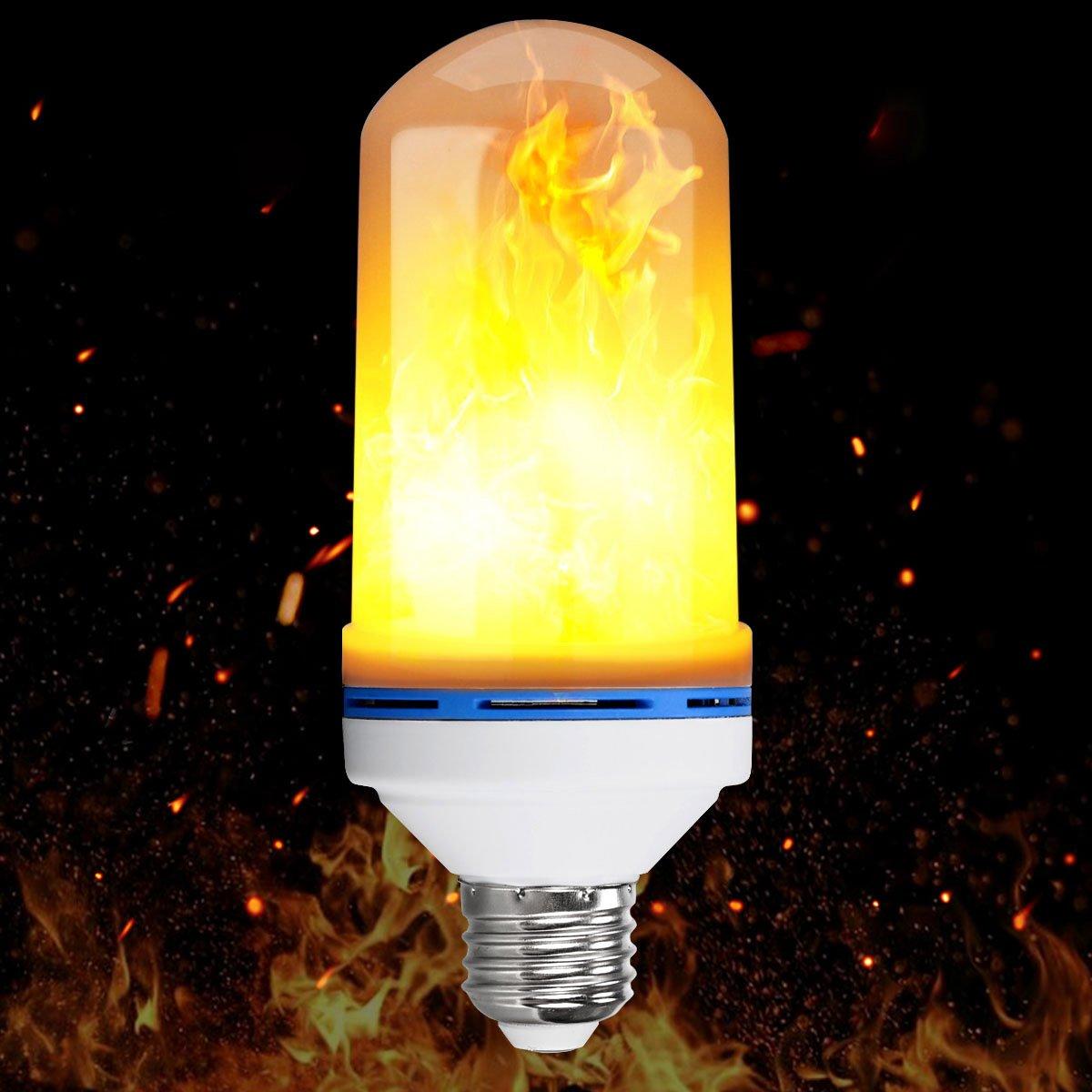 LED炎効果ライト電球、aonokoy e26標準ベースLEDちらつき炎ライト電球、Simulated装飾ライト雰囲気照明ヴィンテージFlamingライトバルブバー/祭用装飾 B077TR1T8J