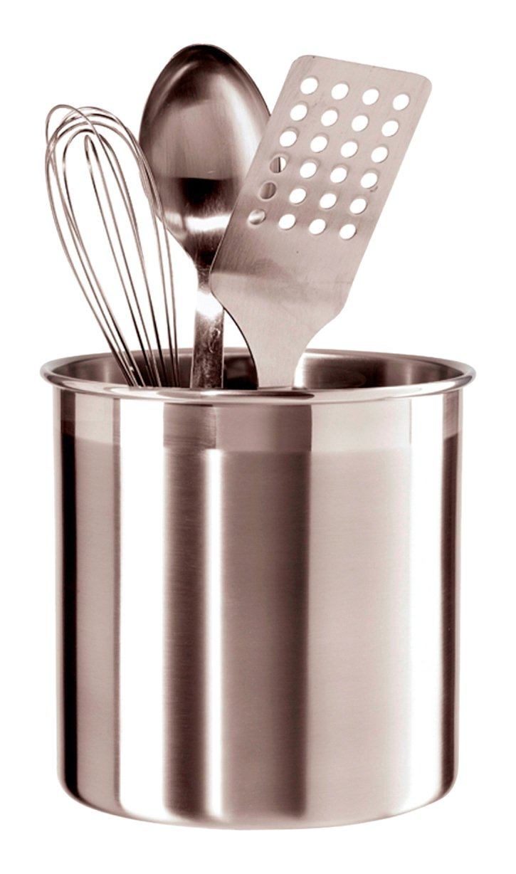 Kitchen Utensil Storage Amazoncom Oggi 7059 Stainless Steel Utensil Holder Small