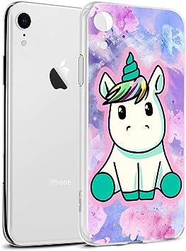 Funda iPhone XR, Eouine Cárcasa Silicona 3D Transparente con Dibujos Diseño Suave Gel TPU [Antigolpes] de Protector Case Cover Fundas para Movil Apple iPhone XR 2018-6,1 Pulgadas (Pretty Unicornio): Amazon.es: Electrónica