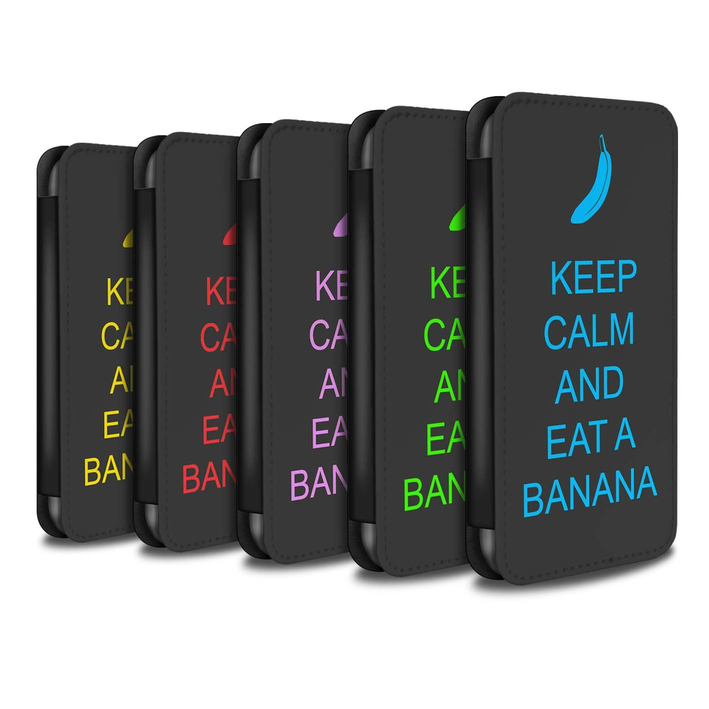 STUFF4 PU Leather Wallet Flip Case/Cover for Apple iPhone X/10 / Pack 25pcs Design / Keep Calm Collection