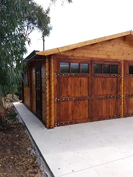 Garaje de madera dekalux 6 x 6: Amazon.es: Jardín