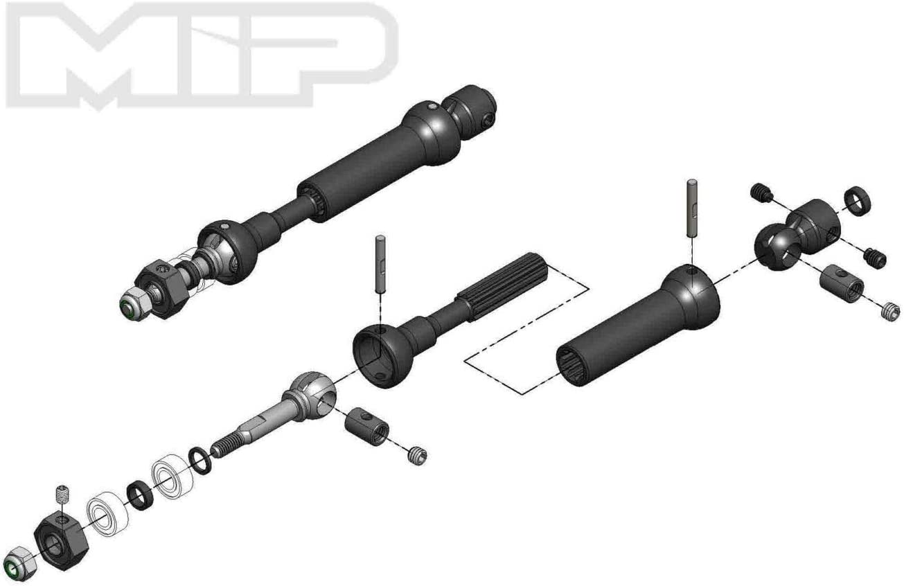 Moore Ideal Products 18140 X-Duty CVD Drive Kit Rear for Traxxas Slash//Rally//Stampede 87Mm to 112Mm with 10Mm X 5Mm Bearing