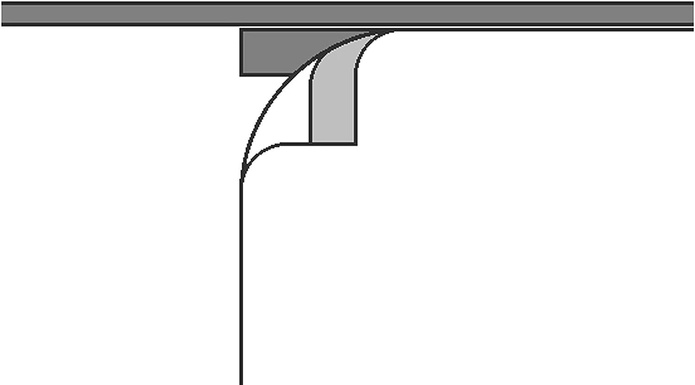 /Panel japon/és con riel de Aluminio y beschwerungsstange pl/ástico Lino Deko Trends fossilia 79/ 245/x 60/cm