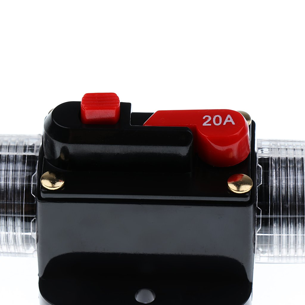 Schwarz non-brand MagiDeal 1 x Sicherungsschalter Universal f/ür Auto Audio//Video-System /Überlastschutz 150amp
