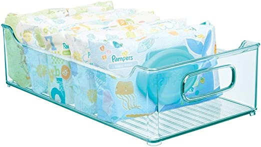 mDesign Caja organizadora para cuarto de bebé – Contenedor ...