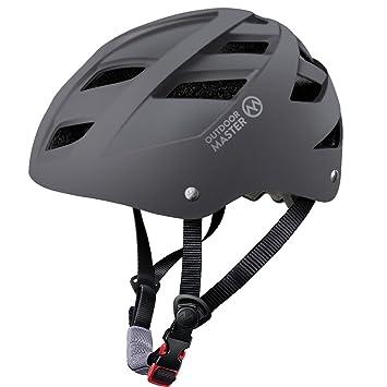 OutdoorMaster Multisport Helm für Jugendliche– Fahrradhelm Skateb M Weiß Helme