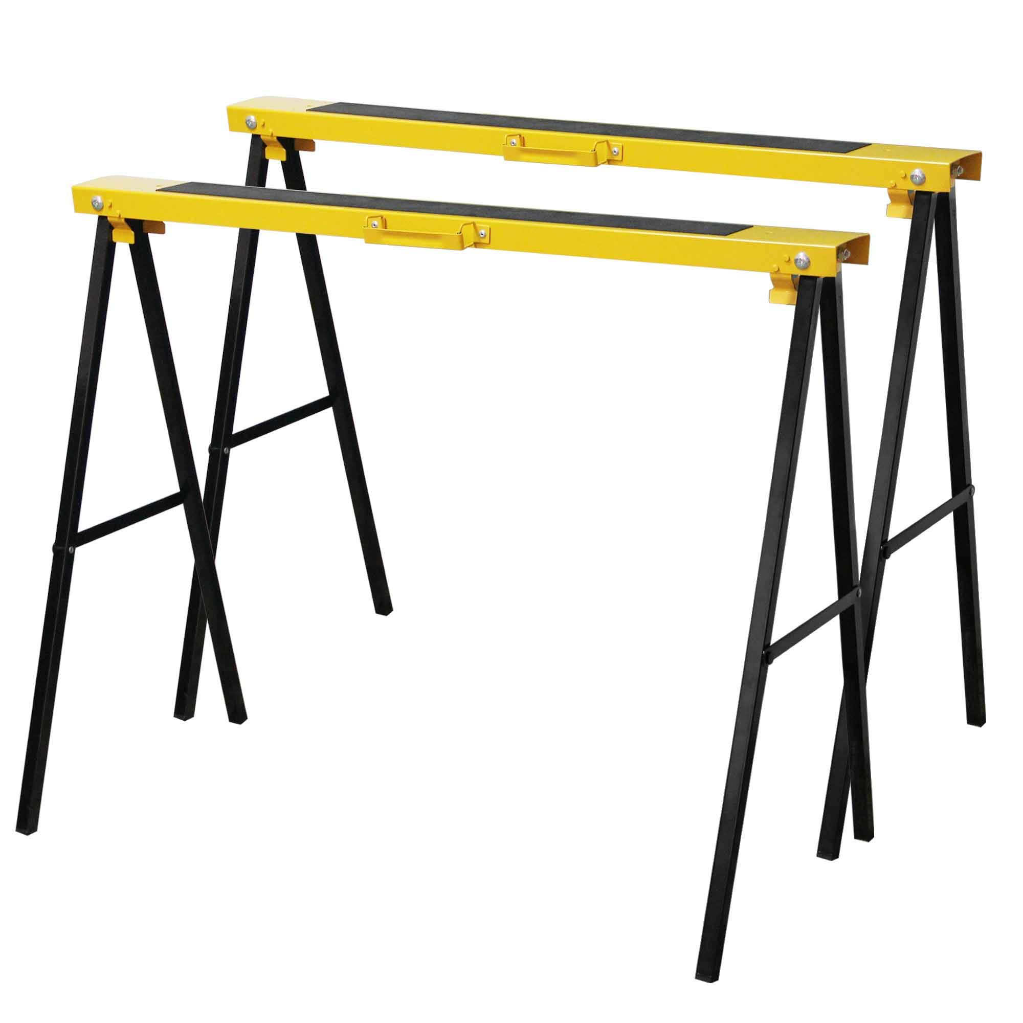 Forup Portable Folding Sawhorse, Heavy Duty Twin Pack, 275 lb Weight Capacity Each (2 Pack)