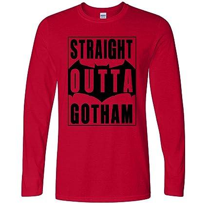 Straight Outta Gotham Cool Retro Men Top - Long Sleeve
