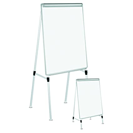 Universal 43033 Dry Erase Easel Board Easel Height 42 To 67 Board 29 X 41 White Silver
