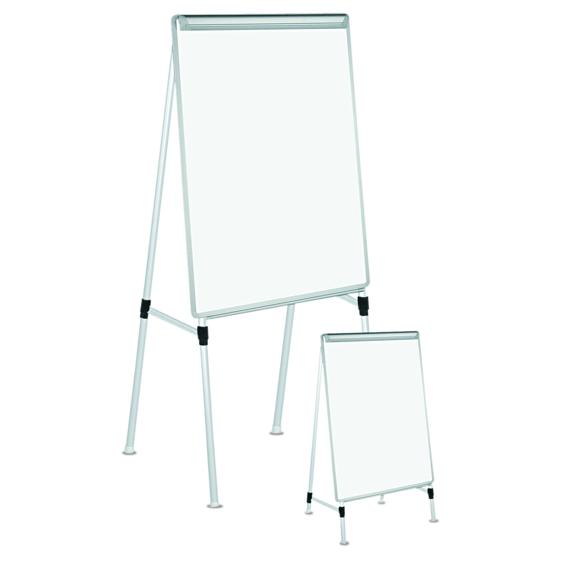 Universal 43033 Dry Erase Easel Board, Easel Height: 42'' to 67'', Board: 29'' x 41'', White/Silver
