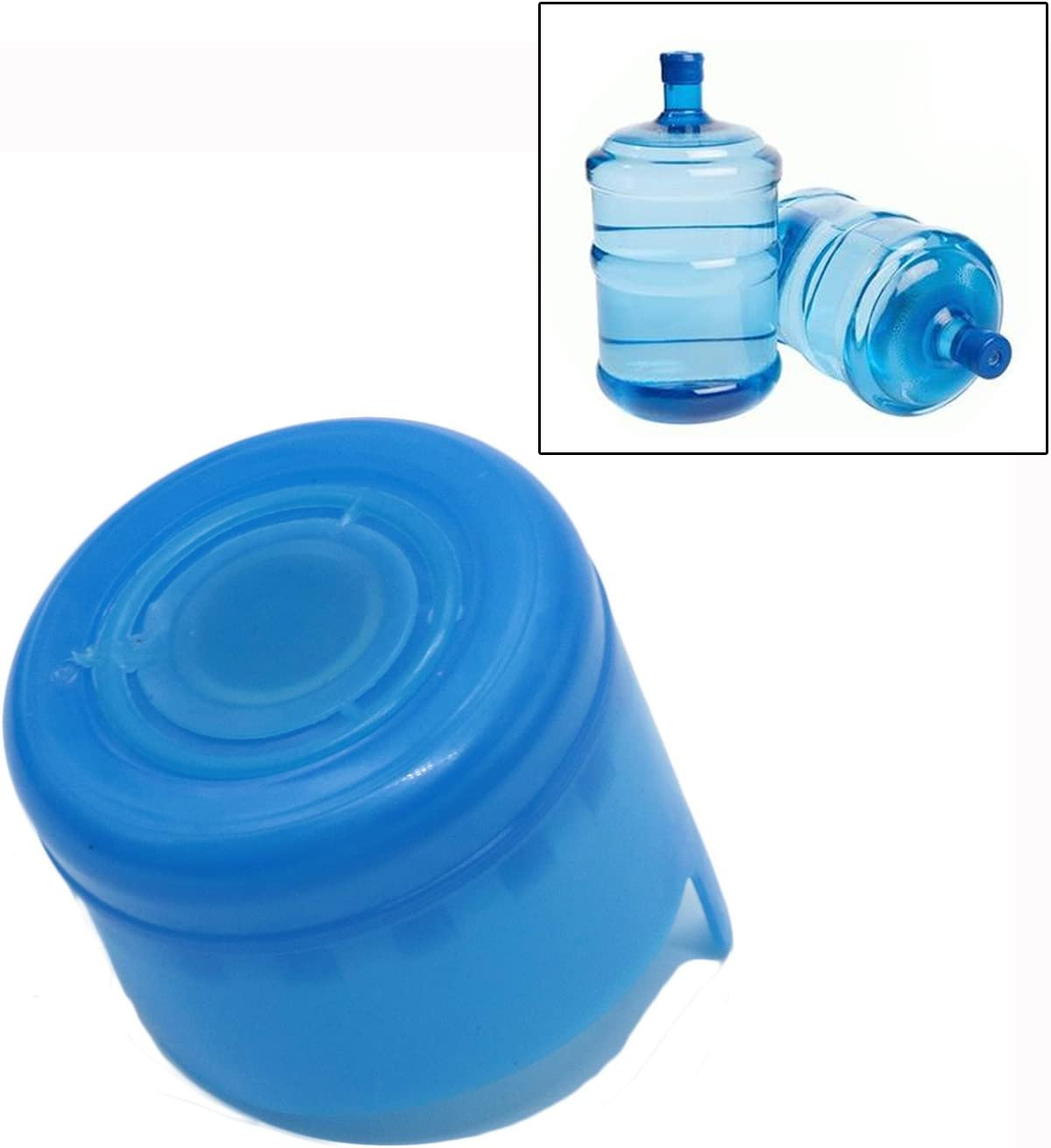 SenseYo 12PCS 55mm 3-5 Gallon Replacement Water Bottle Snap On Cap, Non-Spill Caps