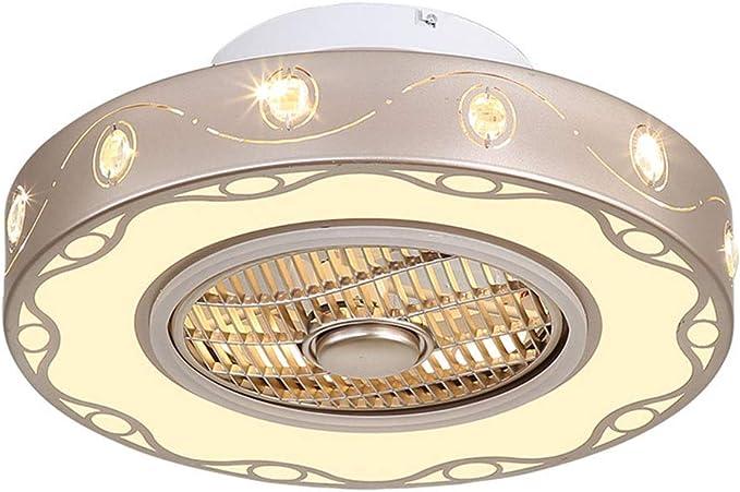 DM_T Ventiladores de Techo Ventilador Empotrado Interior Lámpara ...