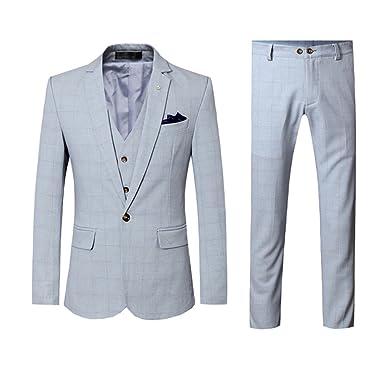 Allthemen Costume Hommes Costard 3 Pcs Veste Gilet Pantalon Business ... f3682718a04