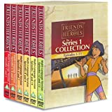 Friends and Heroes DVD Series 1 Pack Multi-Language - Includes Children's Bible Stories of Jesus, Moses, Joseph, Daniel and the Lion's Den, and David and Goliath
