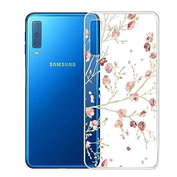 PZEMIN Samsung Galaxy A7 2018 Funda Transparente Soft Silicona TPU Suave Case Flexible Ultra Slim Cover Carcasa para Samsung Galaxy A7 2018 (6.0