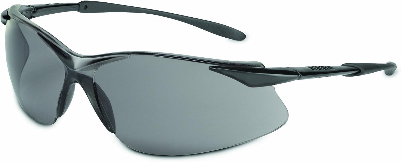 Sperian XV201 Tectonic Series Eyewear TSR Lentes antiarañazos gris y negro brillante templo