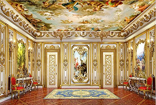 Lwcx Custom Photo 3D Wallpaper Non-Woven Picture European Character Painting Ceiling Mural 3D Wall Murals Wallpaper for Walls 3 D 300X210CM by LWCX (Image #1)