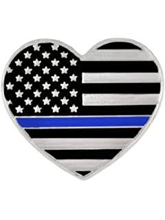 Forge California Blue Lives Matter State Shape Blue Line Lapel Pin 25 Pins