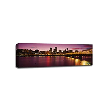 Larger Than Life Prints Portland Cityscape Canvas, 48  x 16