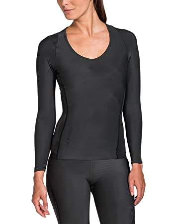 SKINS Women's Ry400 Recovery Long Sleeve Top , Black, ...