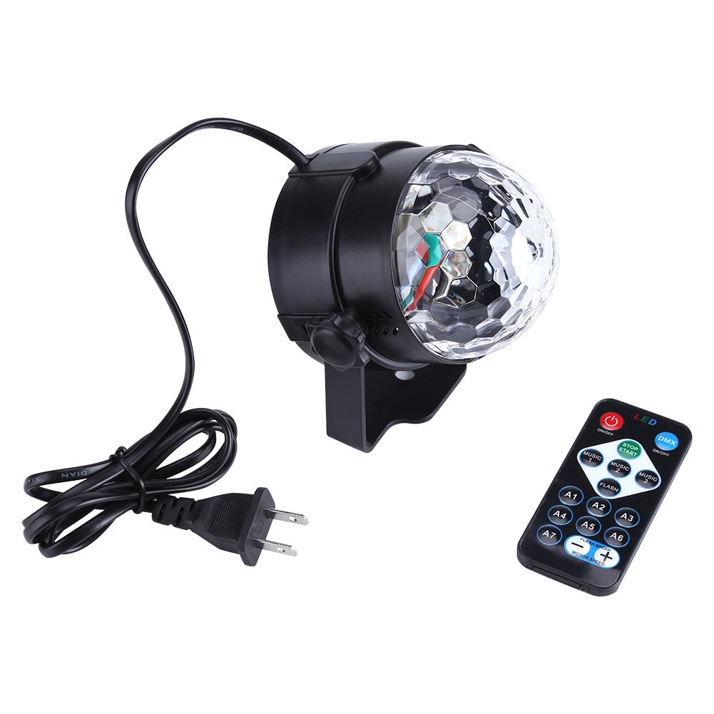 Disco Light Mini RGB LED Stage Light Pub Disco Party Effect Lamp with Remote Controller, 3W Disco Lights For KTV Lighting, Party, Wedding Show, Club Pub, Disco DJ Lighting(US Plug)