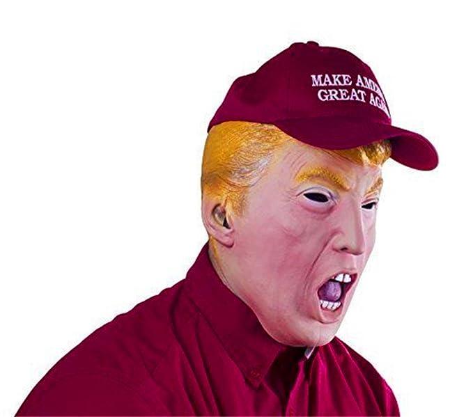 ZOMTOP Máscara de Donald Trump - Máscara Presidencial Republicana del Candidato (A): Amazon.es: Juguetes y juegos