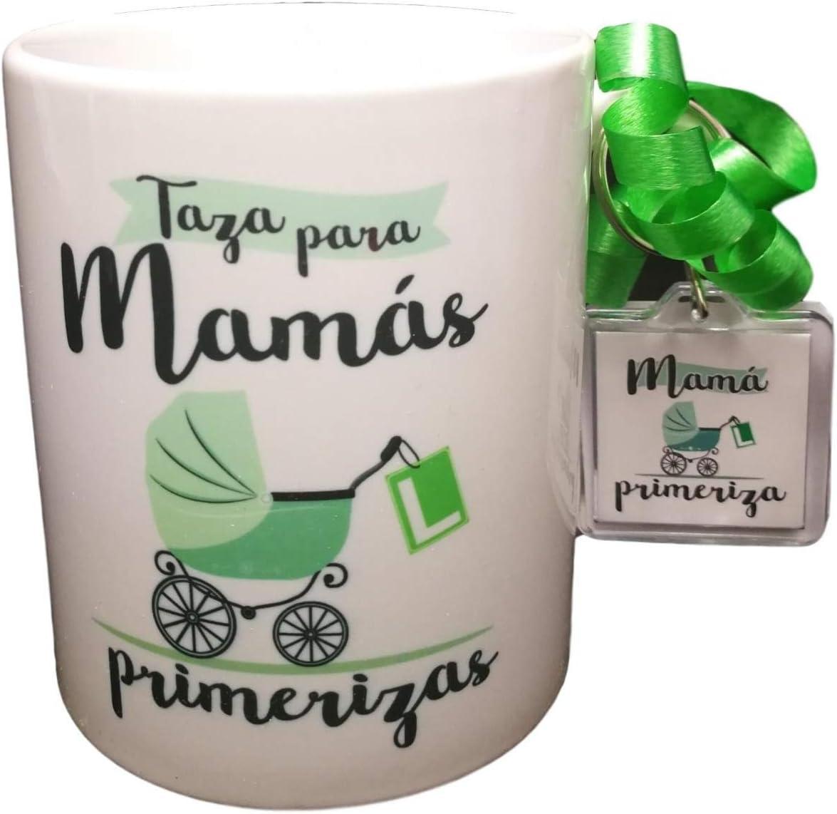 Taza Y Llavero para MAMÁS PRIMERIZAS. Regalo para FUTURAS MAMÁS. MAMÁS NOVATAS. MAMÁS EN PRÁCTICAS.