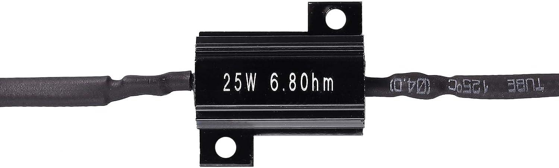 Fugen 4pcs led Load Resistor Motorcycle Turn Signal Indicator Flash Blinker Fix Error 25W 6.8Ohm