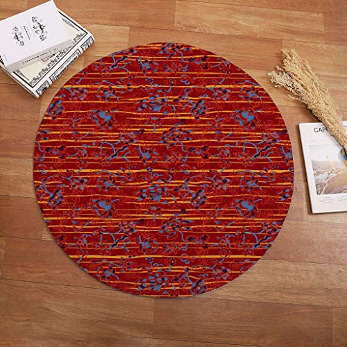 Nivalkid Round Rug Art Deco Rug Living Room Bedroom Study Children Playroom Soft Carpet, Round Carpet Home Bedroom Carpet Floor Mat Door Mat Home Mat, Picnic Blanket Waterproof from Nivalkid