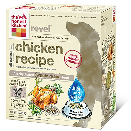 183413004497 - The Honest Kitchen Revel: Natural Human Grade Dehydrated Dog Food, Chicken & Organic Grains,2 lbs (Makes 8 lbs) carousel main 0