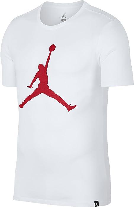 db49b966866d43 Amazon.com  NIKE Jordan Iconic Jumpman Logo Printed Men s T-Shirt White Gym  Red 908017-105 (X-Large)  Sports   Outdoors