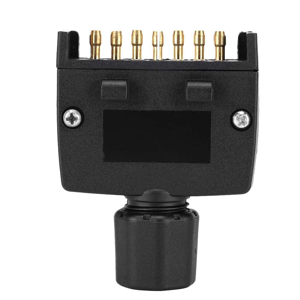 KIMISS Australian 7 Pin Flat Male Trailer Socket Plug 7-Pin Connector Adapter for Caravan Trailer Truck RV Boat