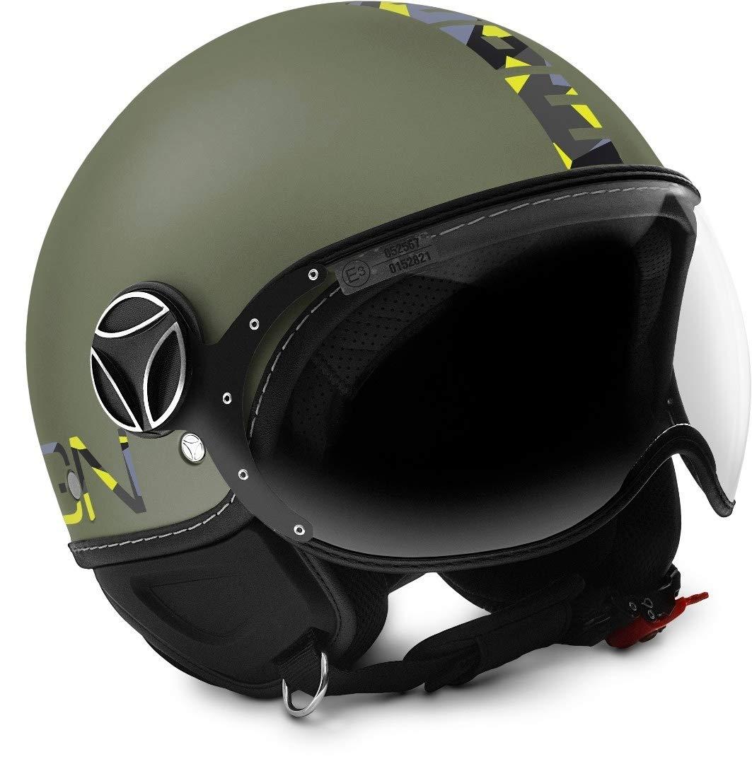 FGTR Baby Verde Casco Moto Jet MOMO Design