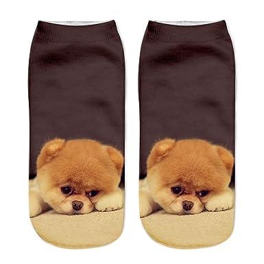 Harajuku Ankle Dog Calcetines Femme Chaussette Mujer Funny Sock Cute Emoji Short Socks