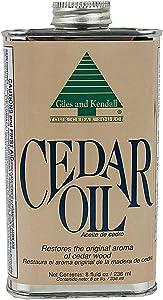 Cedar Oil - Giles and Kendall - Restores the Original Aroma of Cedar Wood, 8 oz