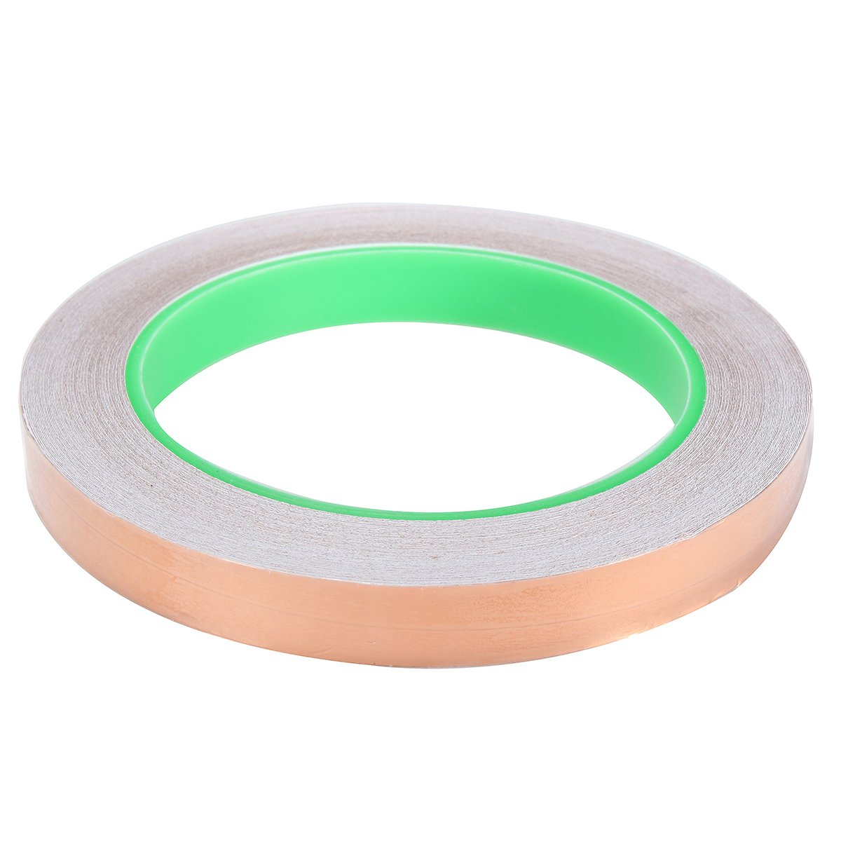 1 x Single-Sided Copper Foil Tape with Conductive Adhesive for EMI Shielding, Slug Repellent, Paper Circuits, Electrical Repairs, Grounding