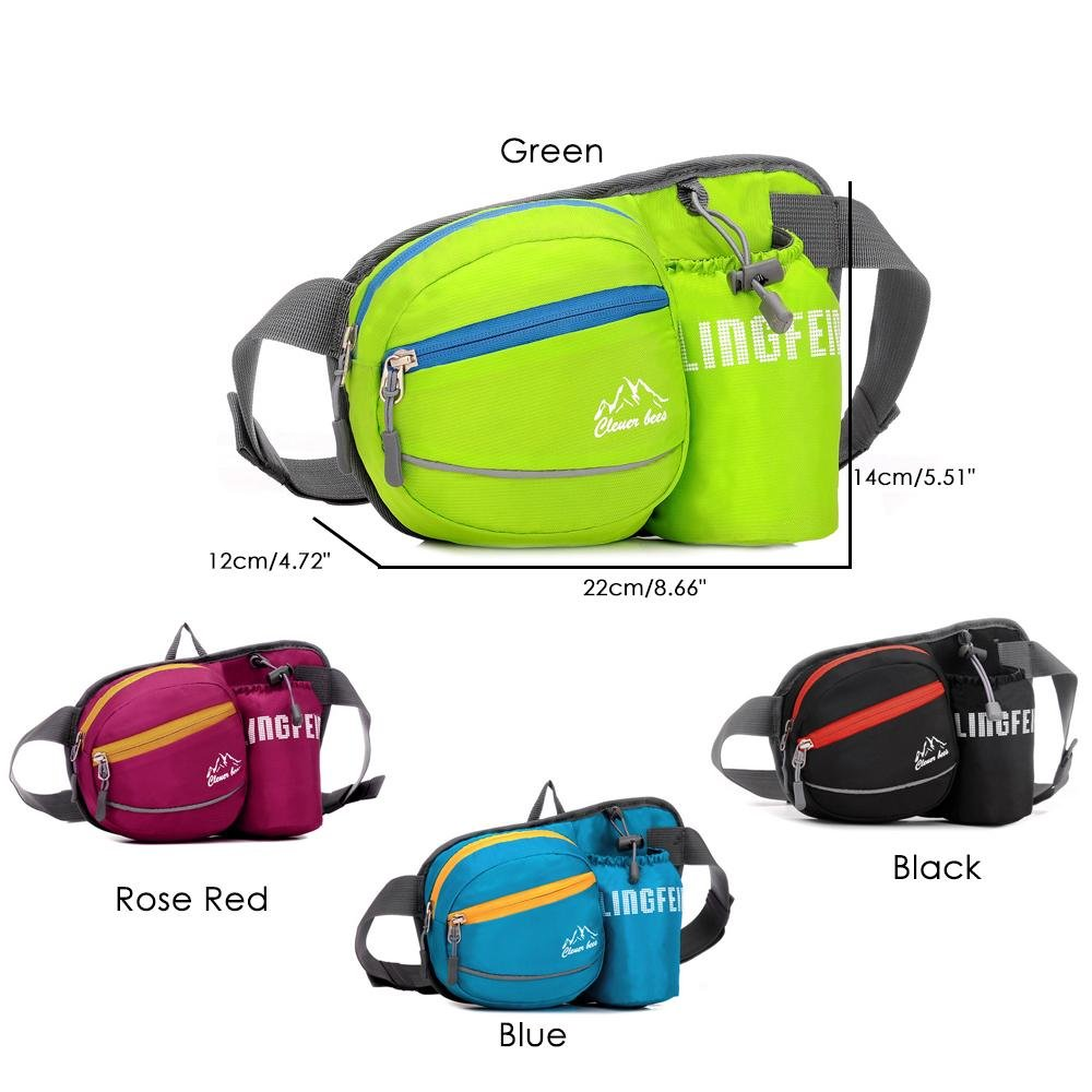 Chest Fanny Pack,Aolvo Waterproof Fanny Pack with Water Bottle Holder,Large Capacity Waist Pack Oversized Sling Backpack for Riding Cycling Climbing Walking