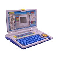 ESnipe Mart Kids Fun English Learner Educational Laptop for 20 Fun Activities Enhanced Skills of Children Premium Quality Kids Educational Purpose for Boy & Girls Best English Learner Laptop