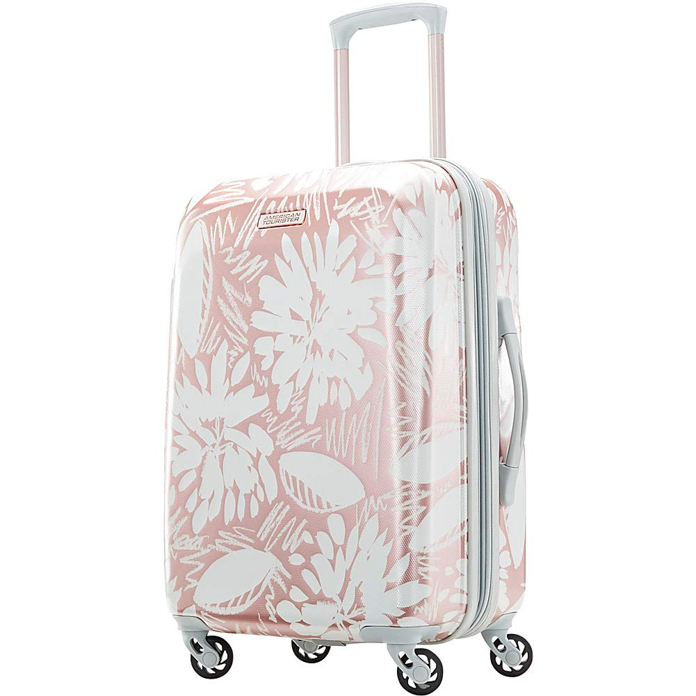 2ab59dc110ad American Tourister Moonlight Hardside Expandable Carry On Luggage with  Spinner Wheels, 21 Inch, Ascending Garden Rose Gold