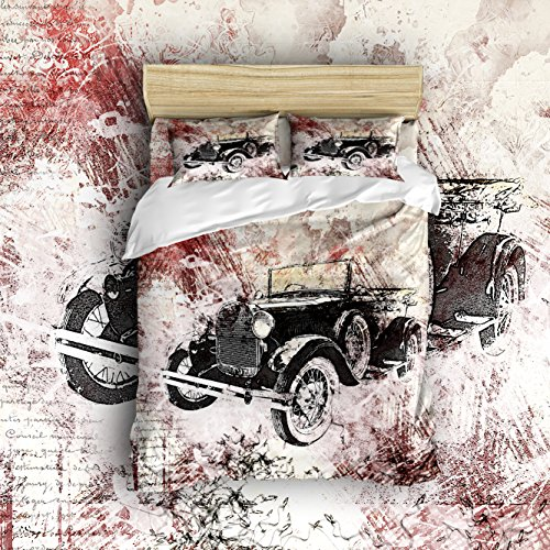 Cheap  Pretty Lee Vintage Cars Theme Printing More Ancient and Cool Duver Cover..