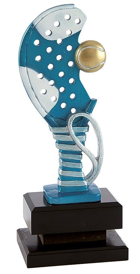 Art-Trophies TP445 Trofeo Deportivo Raqueta Pádel, Azul, 26 cm